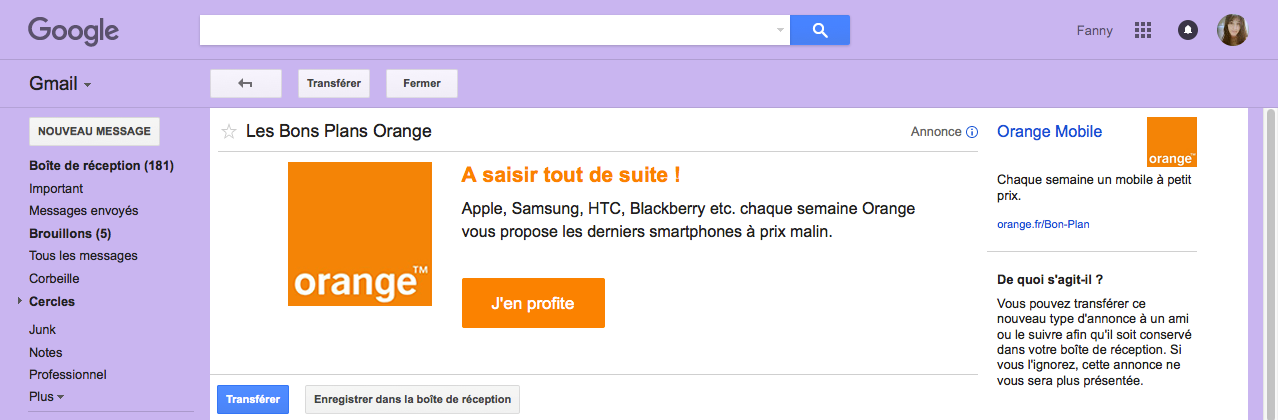 Native Advertising google orange bons plans monter sa boite